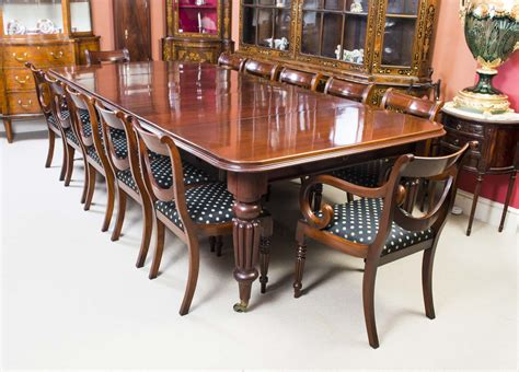 12 Chair Dining Table Antique Dining Table C 1850 12 Chairs Ref No 05571b