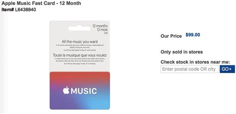 Apple Music Gift Card Canada - apple music deal paypal offers 12 months for 99 two months free iphone in canada