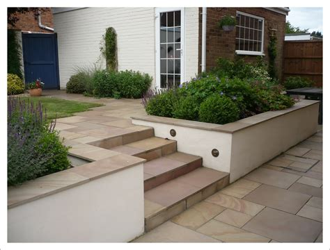 Existing New Brick Walls Flanking Steps Could Be Rendered Garden Wall