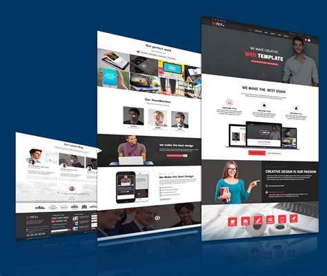 unique templates for website creative multipurpose website template free psd download