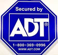 printable security stickers adt sign ebay