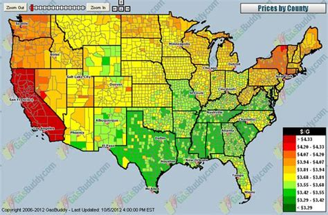 california map gas prices california gas price spike econbrowser