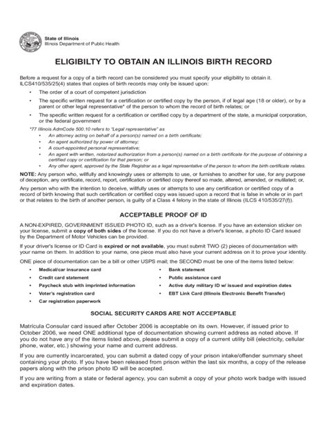 State Of Illinois Birth Records Application For Search Of Birth Record Files Illinois Free