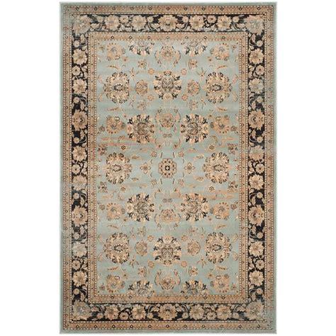 light blue and brown area rug safavieh vintage light blue brown 4 ft x 5 ft 7 in area rug vtg575h 4 the home depot