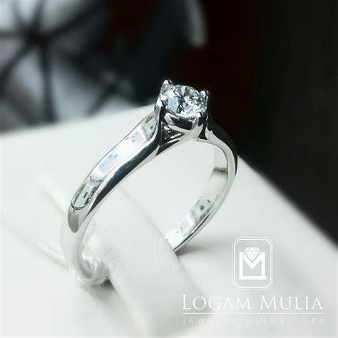 Cincin Wanita Solitaire Berlian jual cincin berlian wanita crw mj1595r logammuliajewelry