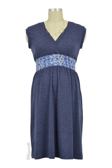 Dress Quin Navy quinn shirred empire color block nursing dress in navy by
