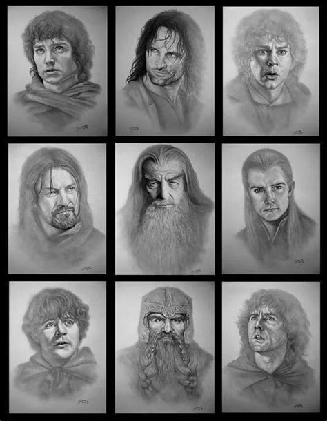 78+ images about Black and white character sketches on
