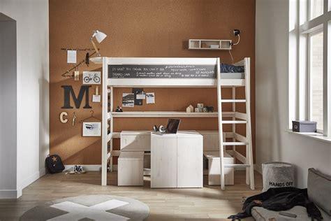 letto soppalco scrivania letto a soppalco con scrivania e cassetti salvaspazio high