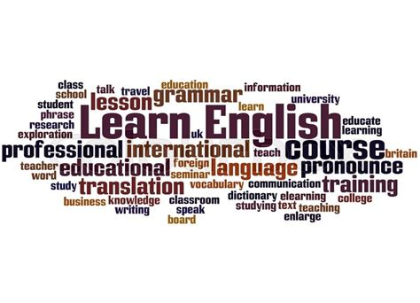 Learn English Word Cloud Concept On White Background