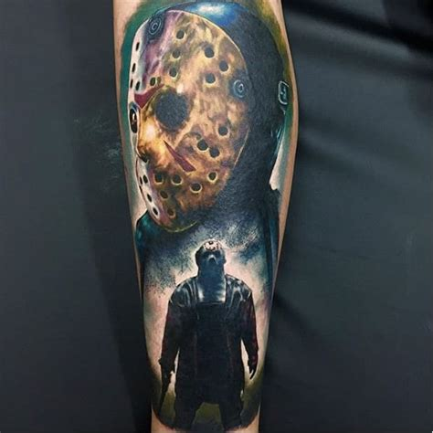jason mask tattoo 13 thrilling jason voorhees tattoos tattoodo