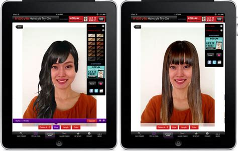 instyle hairstyles app app try out a new hairstyle without going to the salon