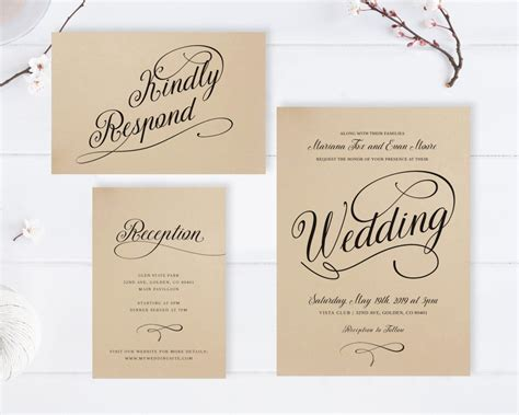 Wedding Invitations Cheap by Kraft Wedding Invitations Cheap Rustic Wedding Invitation