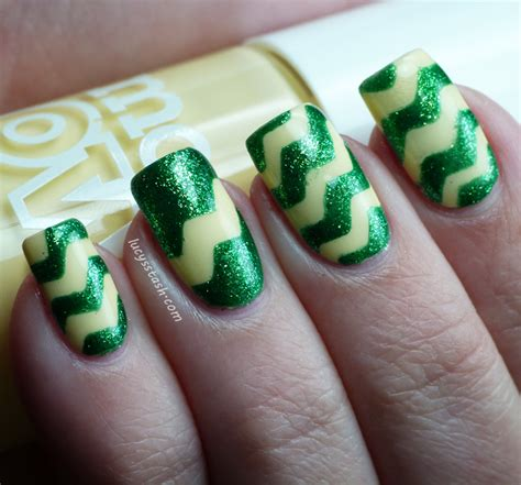 nails tutorial zig zag how to do a zig zag nail art using tape and craft scissors