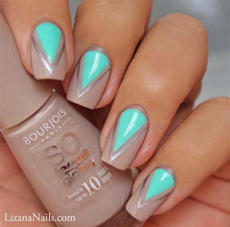 nail art triangle tutorial triangle nail art by lizananails on deviantart