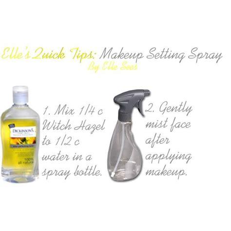 diy setting spray witch hazel diy makeup setting spray mix 1 4 cup of witch hazel and 1 2 cup of water in a spray bottle