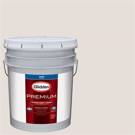 glidden premium 5 gal hdgwn09u heatherbelle satin interior paint with primer hdgwn09up 05san
