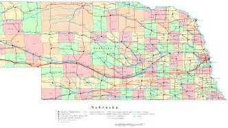 us map nebraska nebraska printable map