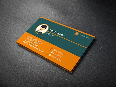 Kartu Nama Name Card 2 Muka mockup 2 front side blue pt rizang pariwara