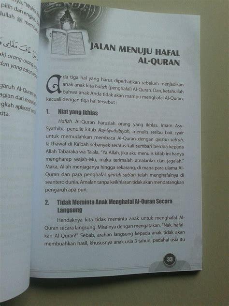 buku kecil kecil jadi hafizh tips praktis agar anak hafal al quran