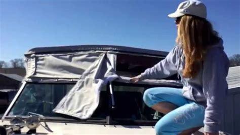 small boat enclosures how to make a bimini top enclosure youtube