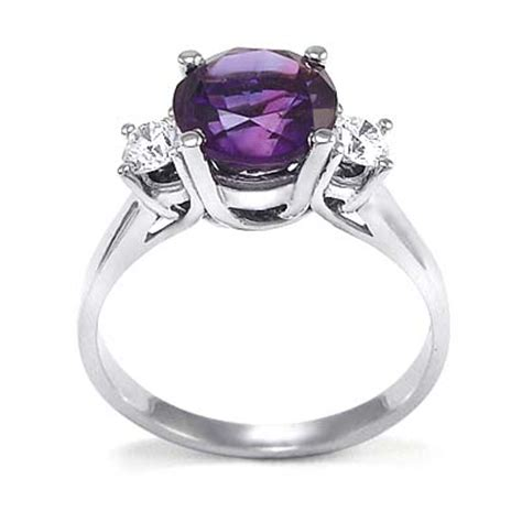 anzor jewelry 14k white gold amethyst engagement