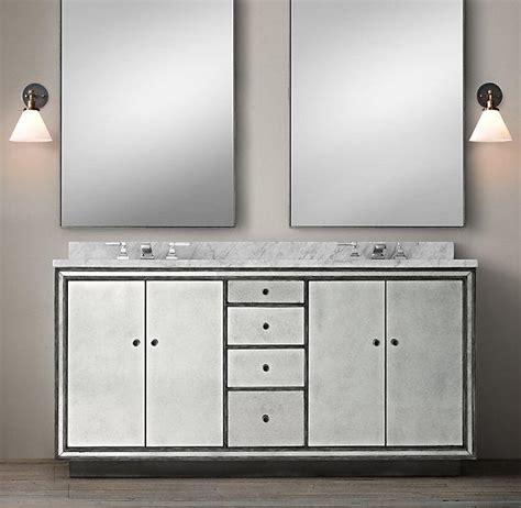 Mirrored Bathroom Vanity Sink Black Border Strand Mirrored Vanity Sink