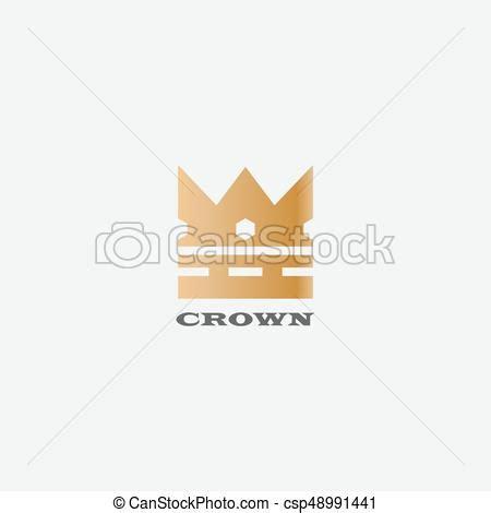 vector crown logo design abstract logo template vector geometric vintage crown abstract logo design vector eps