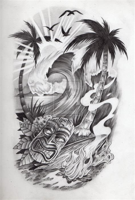 tropical beach tattoo designs tropical by jcgalleryandstudio on deviantart