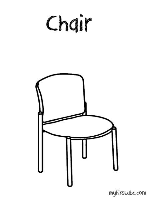 school chair coloring page school chair coloring page