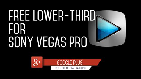 Free Flat Lower Third Template For Sony Vegas Pro Youtube Cut Pro Lower Thirds Templates Free