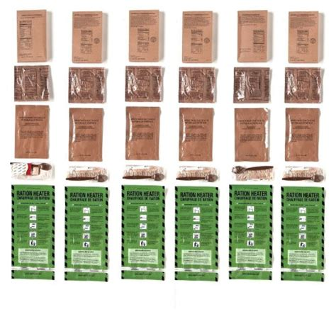 Shelf Of Mre Meals by Mre Meals Ready To Eat Two Course Fresh Mres With