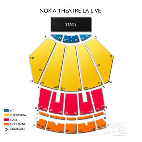 nokia theater seating map nokia theatre la live tickets nokia theatre la live