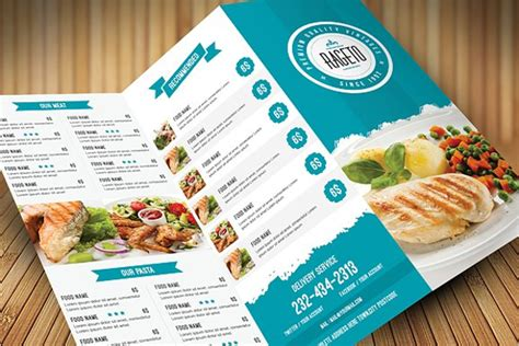menu card template word modern clean 32 catering flyer templates free psd word designs