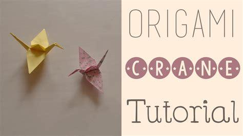 Crane Origami Tutorial - origami crane tutorial