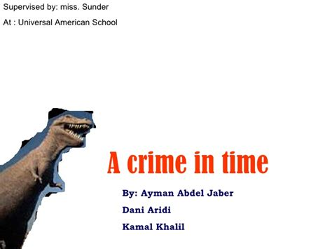 murder in time a crime in time