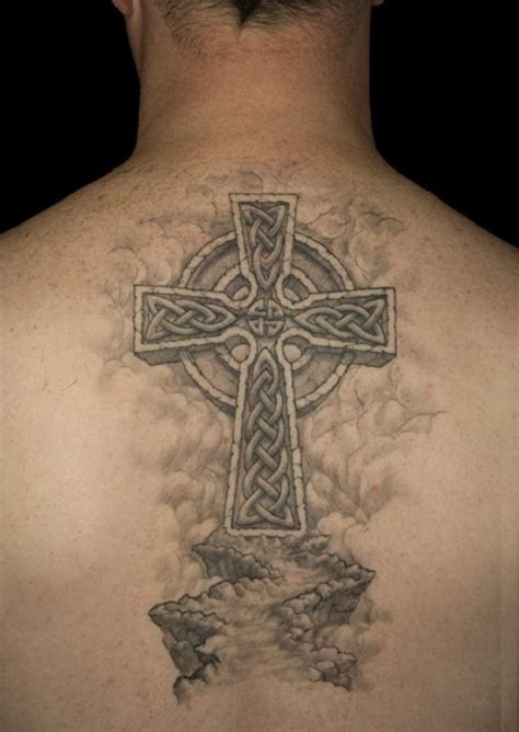 back cross tattoos for men celtic cross design ideas best 2015