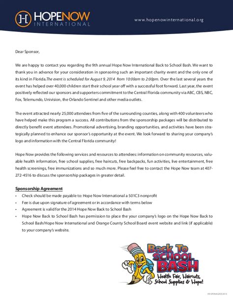 Sponsor Support Letter Sle Support Letter Now Back To School Bash 2014 1a