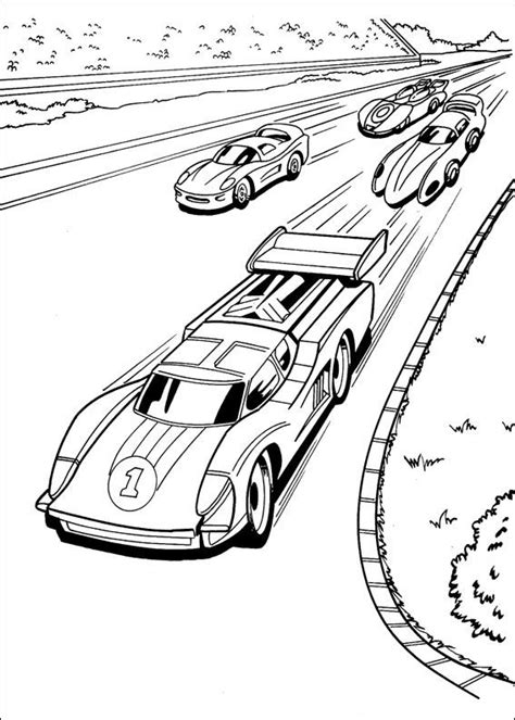 dibujos de hotwheels para colorear gratis