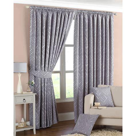 leaf curtain tie backs geometric leaf curtains woven lined pencil pleat curtain