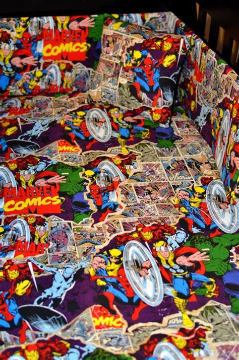 Marvel Baby Bedding by Custom Comic Book Cotton Or Flannel Fitted Crib Sheet