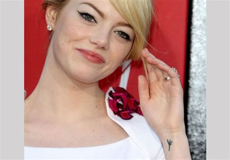 emma stone tattoo 25 graceful designs slodive