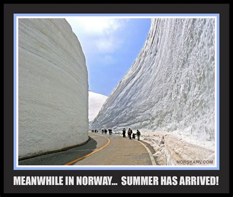 Norway Meme - meanwhle in norway meme summer has arrived road through