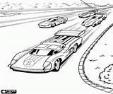 Coloriage Voitures de course sur le circuit Hot Wheels