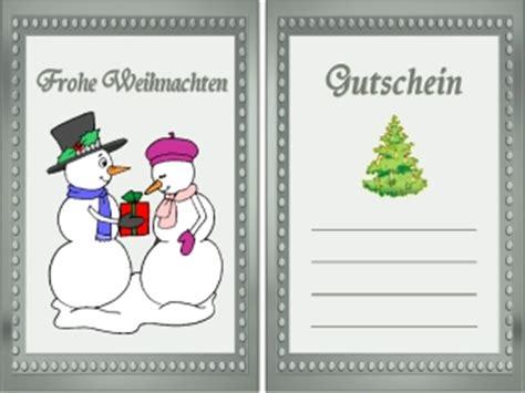 weihnachten gutschein kostenlos