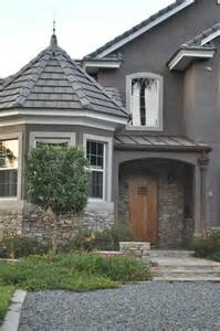 Home theres my stucco grey stucco house with stone loving the color