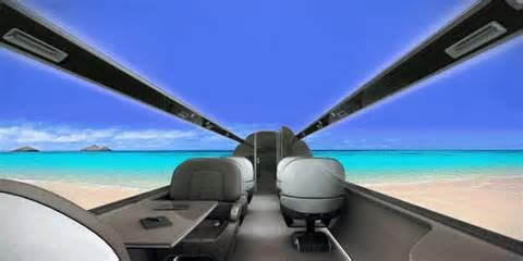 The futuristic plane with all window seats