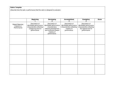Blank Rubrics To Fill In Rubric Template Download Now Doc Gs Pinterest Templates Free Rubric Template
