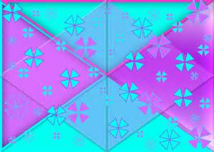 Pink and teal triangles pattern background