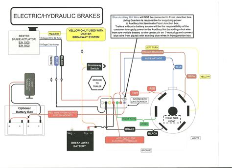 7 pin electric trailer brake wiring diagarm schematic and