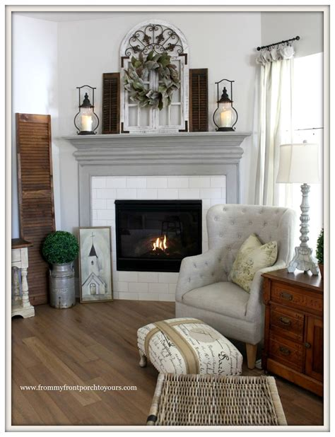 farmhouse fireplace mantel from my front porch to yours farmhouse fireplace mantel